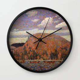 Tom Thomson - The Pointers - Canada, Canadian Oil Painting - Group of Seven Wall Clock