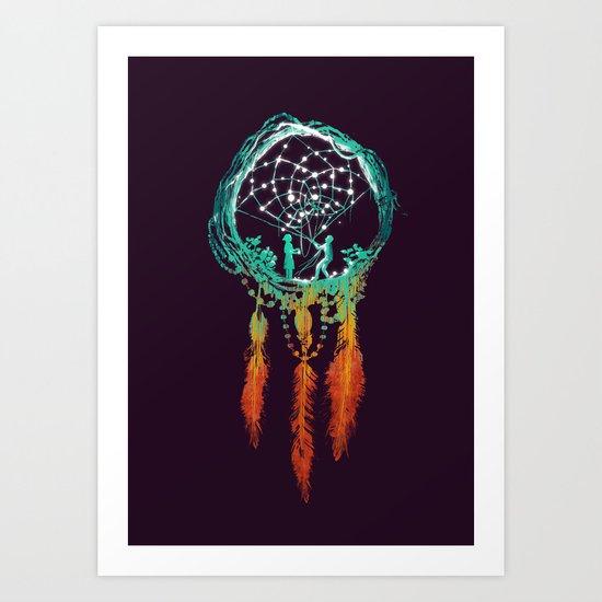 Dream Catcher (the rustic magic) Art Print