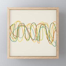 Abstract Minimal Retro Lines Framed Mini Art Print