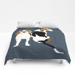 Gracie and Greta tree walker coonhounds Comforters