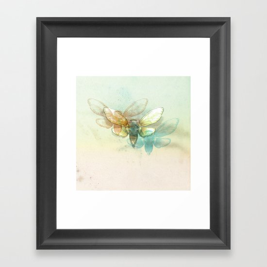 Mr.Summertime (Cicada Skins) Framed Art Print