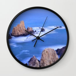 """Sirenas azules. Blue mermaids"" Wall Clock"
