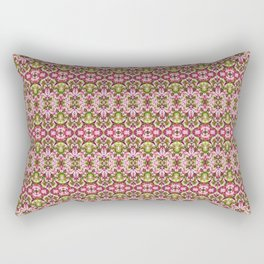 Delicate Floral Stripes Rectangular Pillow
