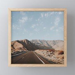 Desert Road Trip / California Framed Mini Art Print