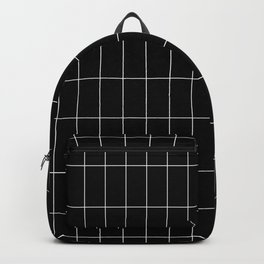 Long Grid Black Backpack