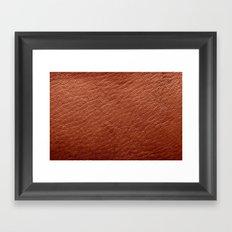 Leather Texture (Light Brown) Framed Art Print