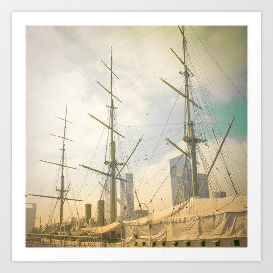Vintage Old Ship Art Print