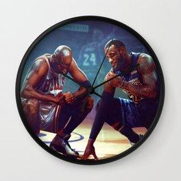 KobeBryant LebronJames Poster, Wall Art Decor Home Decor Wall Clock
