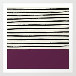 Plum x Stripes Art Print
