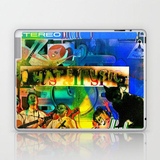"""I Hate Music"" by Cap Blackard Laptop & iPad Skin"