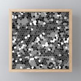 Silver Gray Polycamo Framed Mini Art Print