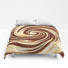 Chocolate milk cocktail spiral Comforters