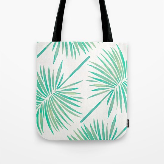 Tropical Fan Palm – Mint Palette Tote Bag