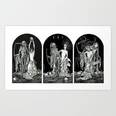 Death and the Maiden Triptych Art Print