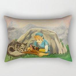 Sidetracked Rectangular Pillow