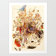 The Seven Head Dresses of Lucifer Art Print