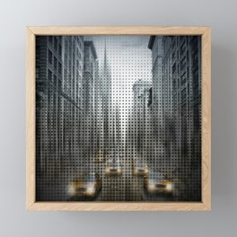 Graphic Art NYC 5th Avenue Traffic V Framed Mini Art Print
