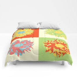 Abstract Chrysanthemums Comforters