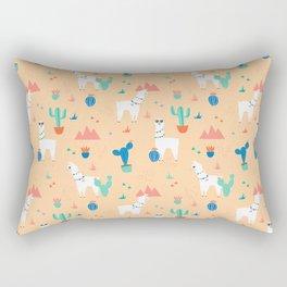 Summer Llamas Rectangular Pillow