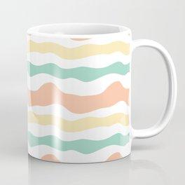 Modern wavy stripes pattern Coffee Mug