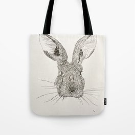 Hare Drawing Tote Bag