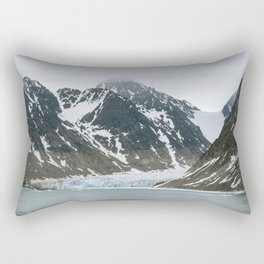 Arctic glacier scene Rectangular Pillow