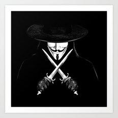 V for Vendetta (e7) Art Print
