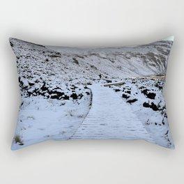 Snow in the Tongariro Rectangular Pillow