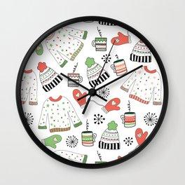 Warm Winter Wear Wall Clock