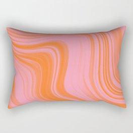 Liquid pink and orange Rectangular Pillow