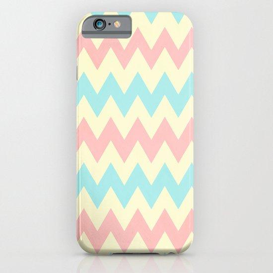 Summer Pink & Blue Chevron iPhone & iPod Case
