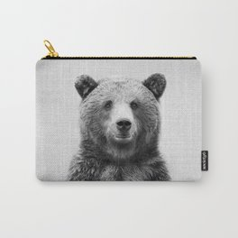 Grizzly Bear - Black & White Carry-All Pouch