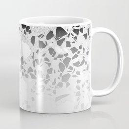 Concrete Terrazzo and Black and White Modern Monochrome Design Coffee Mug