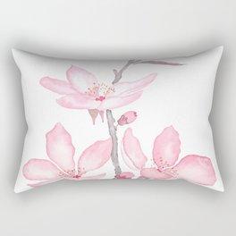 pink cherry blossom macro 2018 Rectangular Pillow