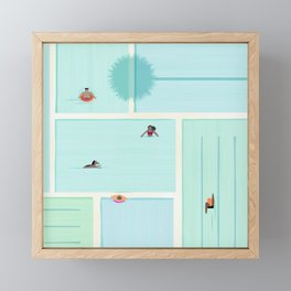 Saturdays At The Pool Framed Mini Art Print