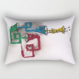 Rhythmic flow Rectangular Pillow