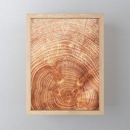 Mandala Wood I Framed Mini Art Print