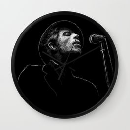 Tom Waits (scribble style) Wall Clock