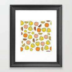 LEMON PATTERN Framed Art Print