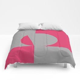 gray pink Comforters
