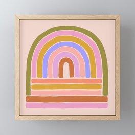 rainbow : of the heart Framed Mini Art Print
