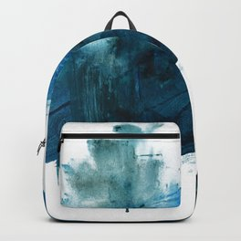 Change: A minimal abstract acrylic painting in blue and green by Alyssa Hamilton Art Backpack
