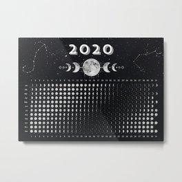 Moon calendar 2020 #2 Metal Print