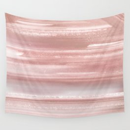 Geode Crystal Rose Gold Pink Wall Tapestry