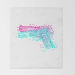 Gun Diagram Throw Blanket