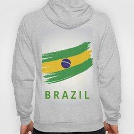 Abstract Brazil Flag Design Hoody