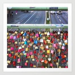 Love Locks in Hamburg Art Print