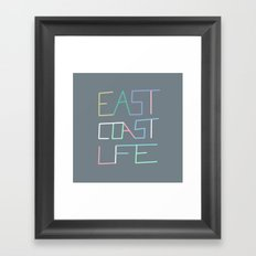 East Coast Life Framed Art Print