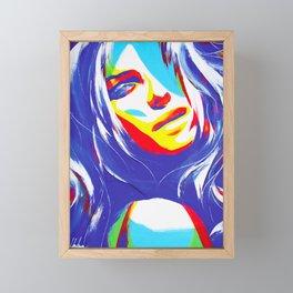 Trice/Blue Framed Mini Art Print
