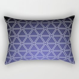 Triangular, Purple Rectangular Pillow